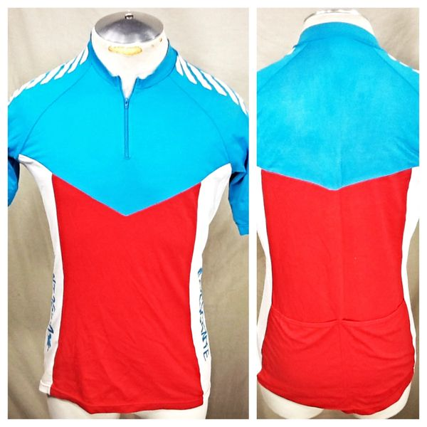 Vintage 90's Descente Racing Team (Med/Large) Retro 1/4 Zip Up Graphic Nylon Cycling Jersey