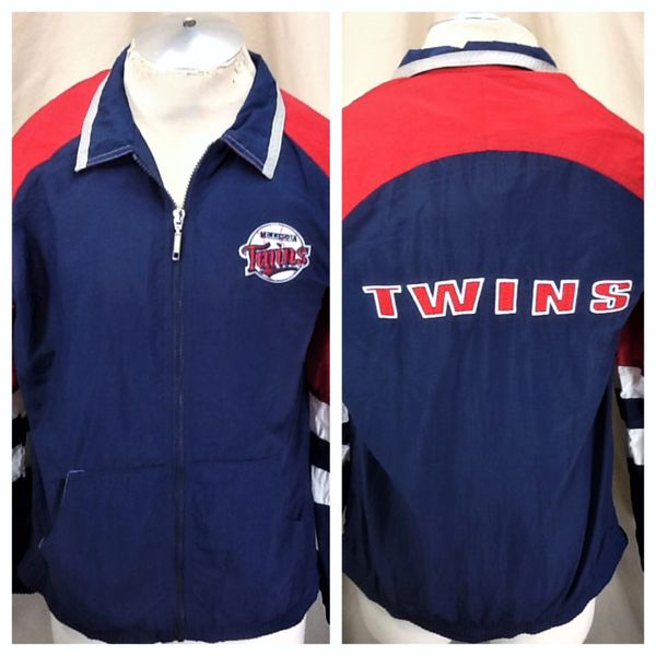 Vintage 90's Starter Minnesota Twins Baseball (XL) Retro MLB Zip Up Windbreaker Jacket