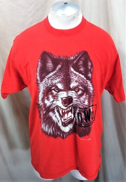 "Vintage 1998 NWO New World Order (Large) Retro WCW ""Wolf Pack"" Wrestling Graphic T-Shirt"