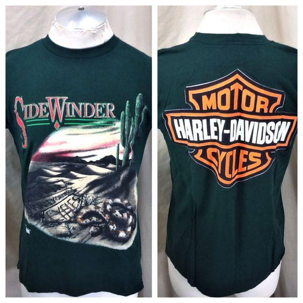 "Vintage 90's Harley Davidson Motorcycles (Medium) ""Side Winder"" Graphic T-Shirt"