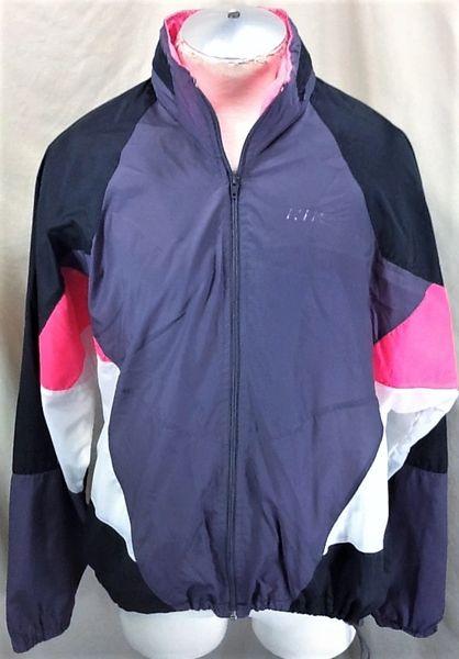 Vintage 90's Nike Athletic Wear (XL) Retro Graphic Zip Up Active Wear Windbreaker Jacket