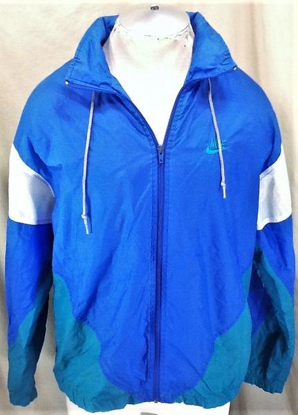 Vintage 90's Nike Active Wear (Large) Retro Hip-Hop Zip Up Windbreaker Jacket