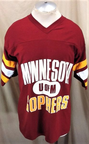 Vintage 90's Logo 7 University of Minnesota Gophers (Large) Retro NCAA Collegiate Apparel Graphic T-Shirt