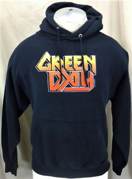 "Vintage 2001 Green Day ""Taste The Lightning"" (Small) Graphic Hooded Sweatshirt"