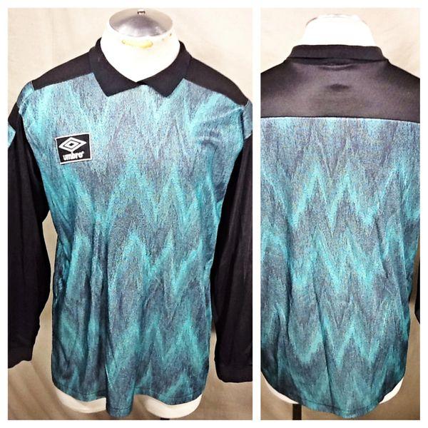 Vintage 90's Umbro Long Sleeve Goal Keeper (Large) Retro Goalie Futbol Soccer Jersey