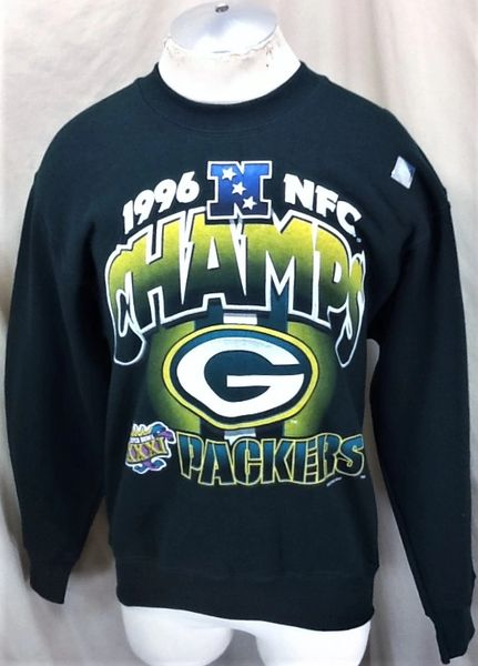 Vintage 1996 Green Bay Packers Football Club (Med) Retro NFL Super Bowl Champs Crew Neck Sweatshirt