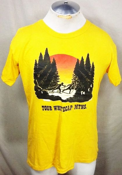 "Vintage 90's Nature ""Tour Whitecap Mountains"" (Med) Retro Tourism Single Stitch Graphic T-Shirt"