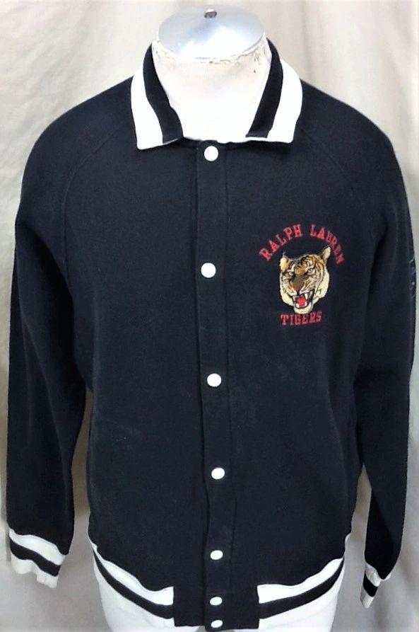 TigersmediumRetro Ralph Lauren Up Sport Snap Polo Vintage FTJcl1K