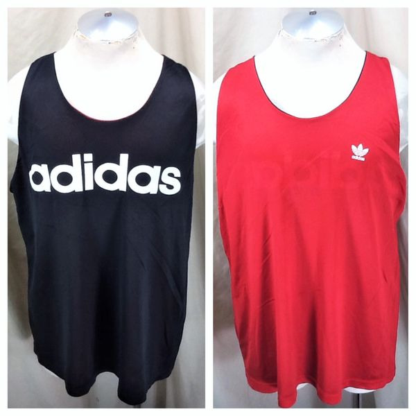 Vintage 80's Adidas Trefoil Hip-Hop Wear (XL) Retro Graphic Reversible Basketball Jersey