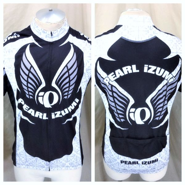 "Pearl Izumi Cycling Team ""Medical Team Symbol"" (XL) Retro Graphic Full Zip Up Cycling Jersey"