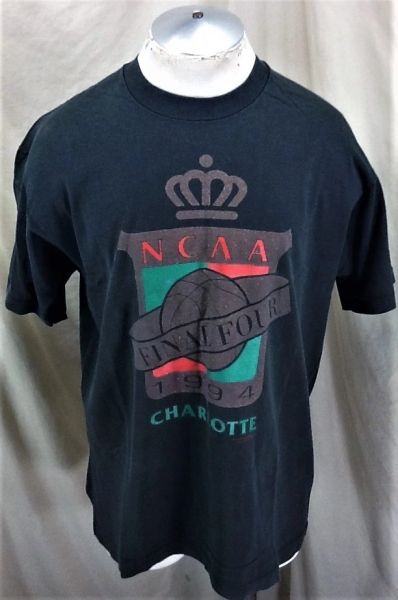 Vintage 1994 Charlotte Final Four (L/XL) Retro NCAA March Madness Basketball T-Shirt