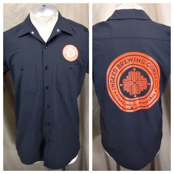 Red Kap Indeed Brewing Company (Medium) Retro Button Up Breweriana Work Shirt