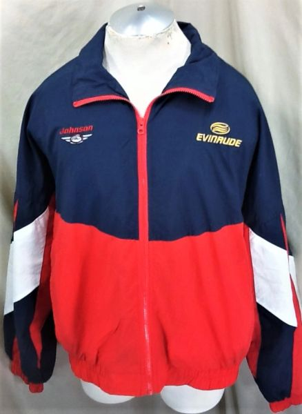 Johnson Evinrude Fishing Outdoorsman (XL) Full Zip Lightweight Windbreaker Jacket