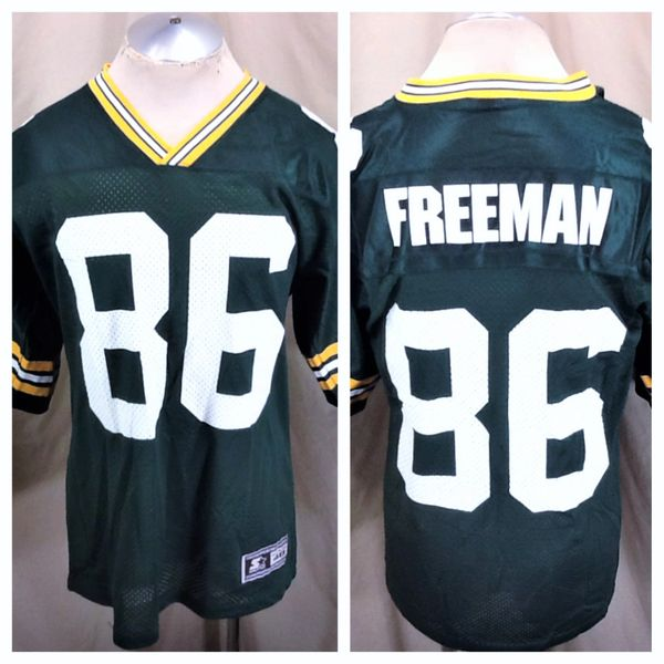 Vintage 90's Starter Green Bay Packers Antonio Freeman #86 (48/L) Retro NFL Football Graphic Green Jersey