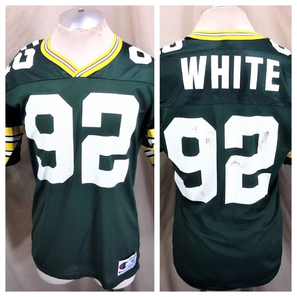 Vintage 90's Champion Green Bay Packers Reggie White #92 (40/Med) Retro NFL Football Green Jersey