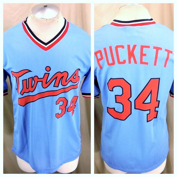 new arrival 65653 be49c Vintage 90's Minnesota Twins Kirby Puckett #34 (Large) Retro Graphic  Baseball Jersey