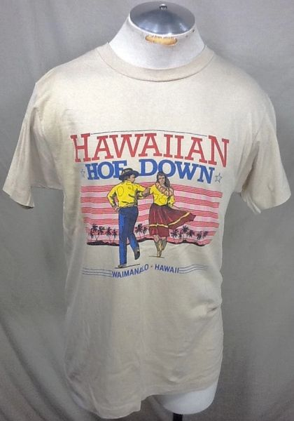 "Vintage 90's ""Hawaiian Hoe Down"" (Sm/Med) Retro Tourism Single Stitch Graphic T-Shirt"