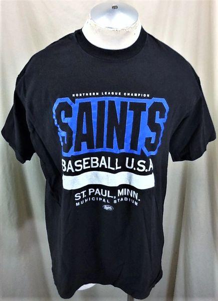 """Vintage 1992 St. Paul Saints """"Municipal Stadium"""" (XL) Retro Northern League Champions T-Shirt"""