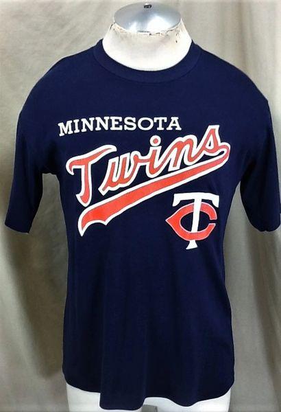 Vintage 80's Minnesota Twins Baseball Club (Med/Large) Retro MLB Classic Logo Graphic T-Shirt
