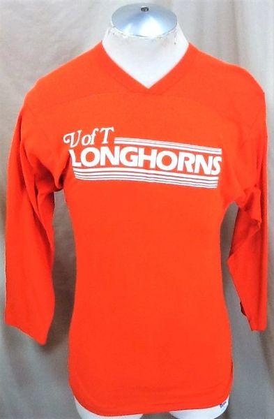 Vintage 80's University of Texas Longhorns (Small) Retro NCAA Graphic Raglan T-Shirt