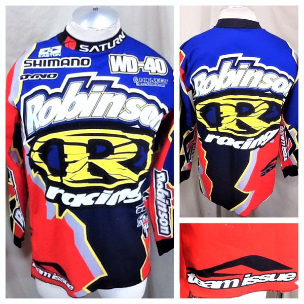 "Vintage 90's Aussie Robinson Racing ""Team Issue"" (Small) Retro Shimano BMX All Over Graphic Jersey"