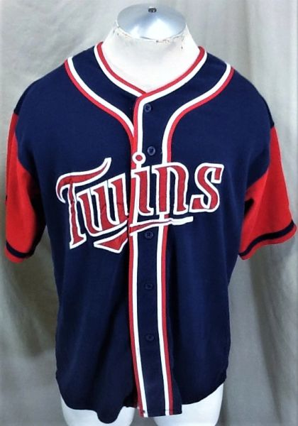 Vintage 90's Starter Minnesota Twins Baseball (Large/XL) Retro MLB Embroidered Button Up Jersey