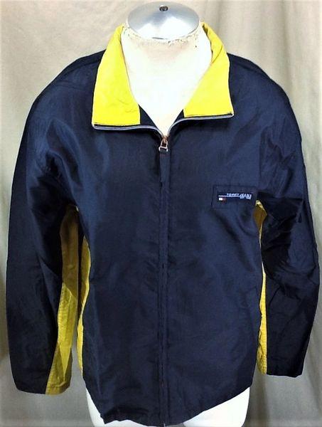 "Vintage 90's Tommy Hilfiger ""Tommy Jeans"" (Large) Retro Zip Up Windbreaker Jacket"