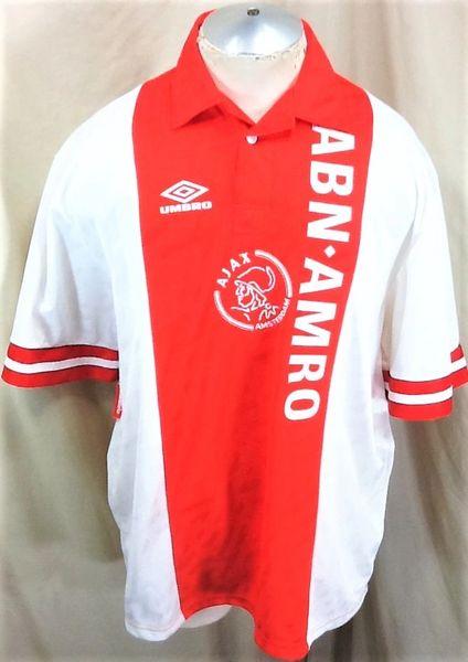 Umbro 2002 Ajax Amsterdam Netherlands (2XL) Retro Home Pullover Soccer Futobol Jersey