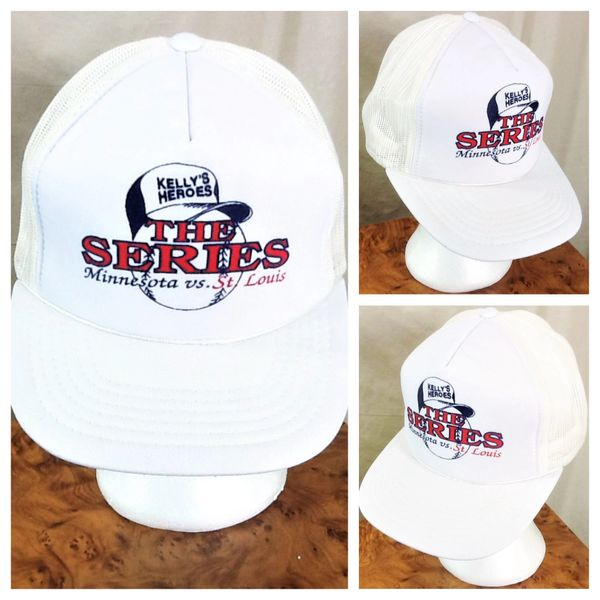 "Vintage 1987 Minnesota Twins ""Kelly's Heroes"" Retro World Series Snap Back Trucker Hat"
