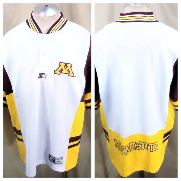 Vintage 90's Starter Minnesota Gophers Basketball (XL/2XL) Retro NCAA Pullover Warm Up Shooting Jersey