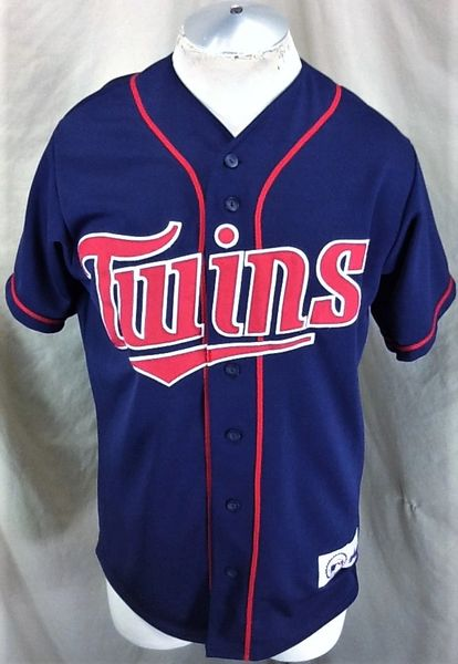 Vintage 2000's Majestic Minnesota Twins (Med) Retro MLB Baseball Button Up Stitched Jersey