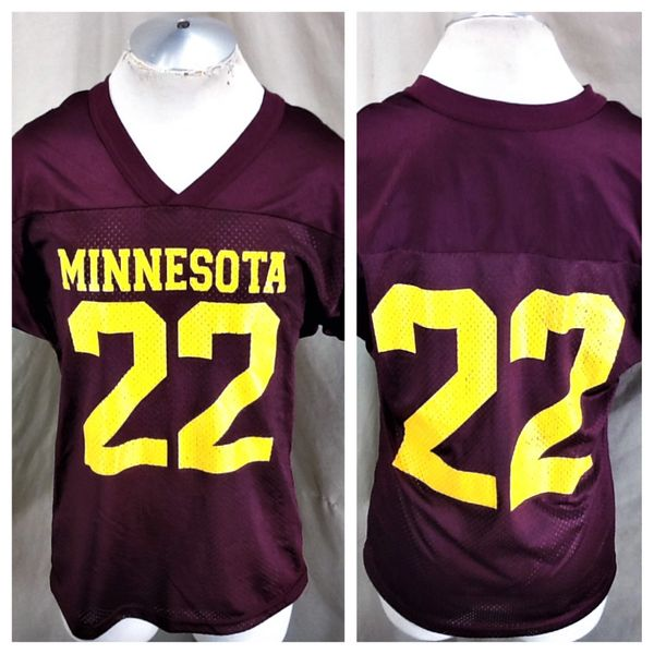 Vintage Minnesota Gophers #22 (Med/Large) Retro NCAA Football Maroon Graphic Jersey