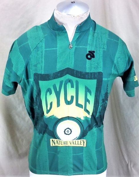 Champion Systems Cycling Team Nature Valley (Large) Retro 3/4 Zip Up Graphic Bike Jersey