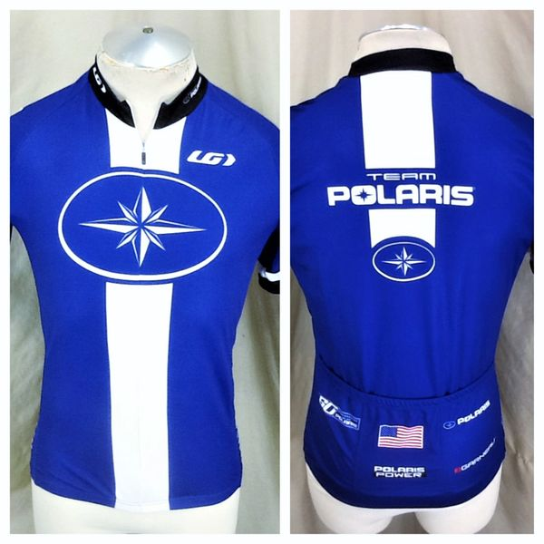New! Garneau Cycling Team Polaris Snowmobiles (Med) Retro 1/2 Zip Up Graphic Bike Jersey