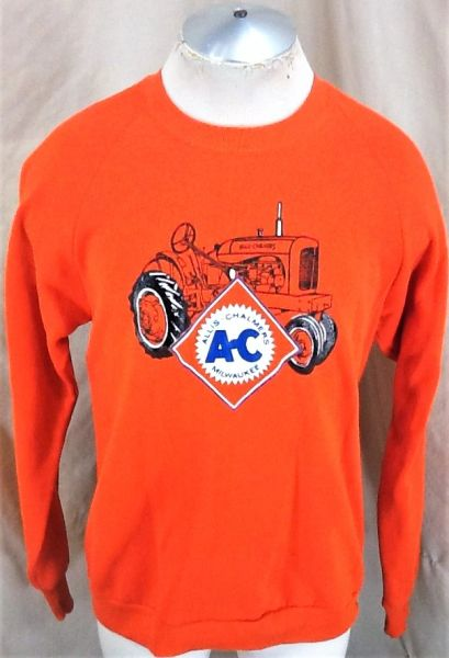 Vintage 90's Allis-Chalmers Milwaukee (Large) Graphic Farming Tractors Sweatshirt