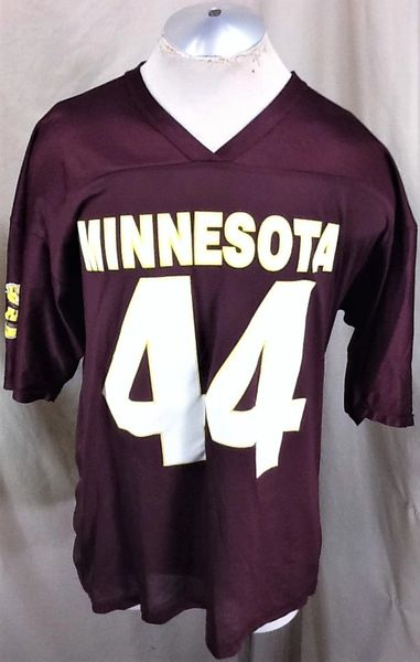 Vintage Off The Bench Minnesota Gophers #44 (L/XL) Retro NCAA Graphic Football Jersey