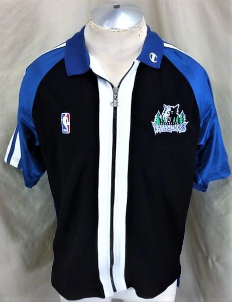 Vintage Champion Minnesota Timberwolves (Med) Warm Up Full Zip Wolves Shooting Jersey