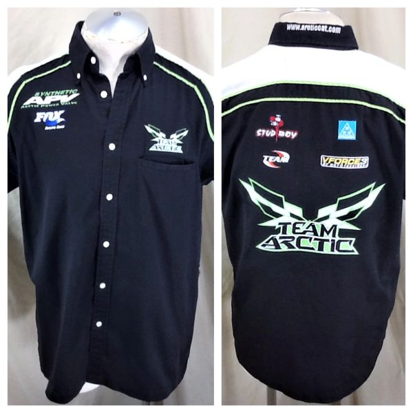 Arctic Cat Team Arctic Factory Snowmobiles (Small) Arctic Wear Button Up Shop Shirt