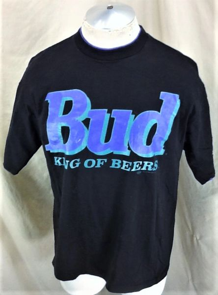 Vintage 1994 Budweiser King of Beers (Large) Retro Bud Beer Graphic T-Shirt