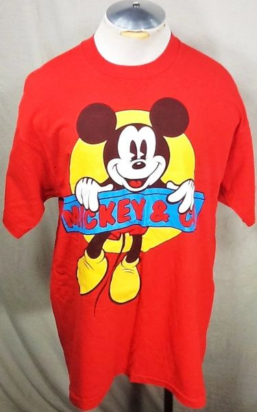 "Vintage 90's Mickey Mouse ""Mickey & Co."" (XL) Retro Walt Disney Graphic T-Shirt"