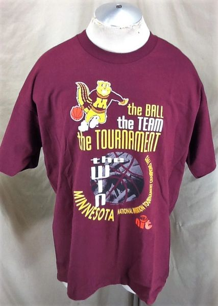 Vintage 1993 Minnesota Gophers Basketball (XL) Retro NCAA NIT Tournament Champions Graphic T-Shirt