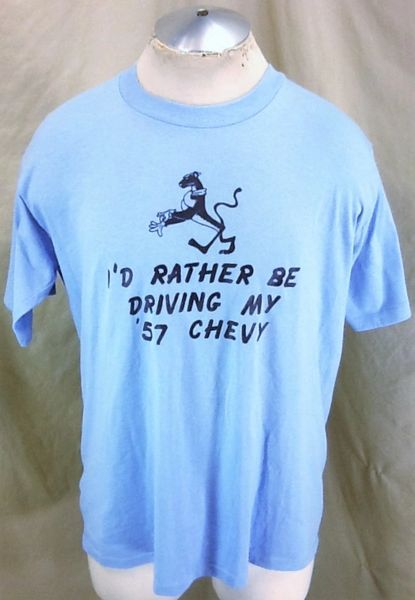 "Vintage 1980's '57 Chevy (XL) ""I'd Rather Be Driving"" Retro Graphic T-Shirt"