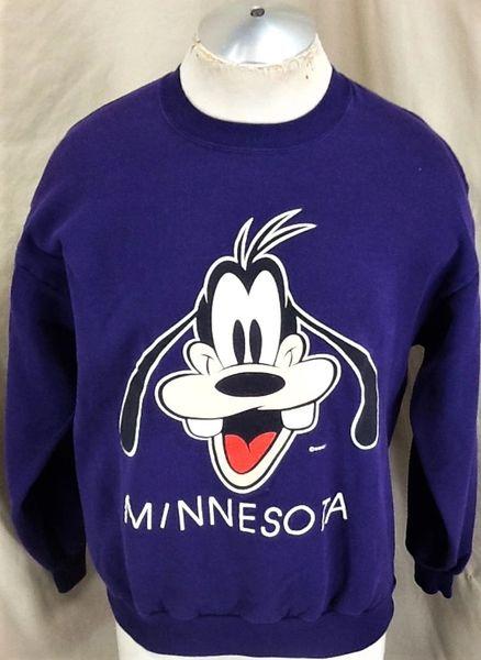 "Vintage 90's Disney's Goofy ""Minnesota"" (Large) Retro Graphic Cartoon Sweatshirt"