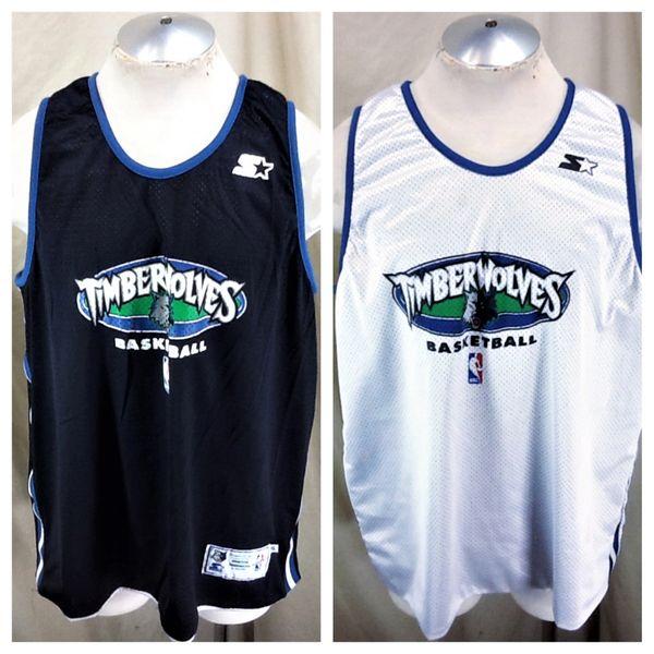 promo code da821 e1fd3 Vintage Starter Minnesota Timberwolves (XL) Reversible NBA Basketball  Wolves Practice Jersey