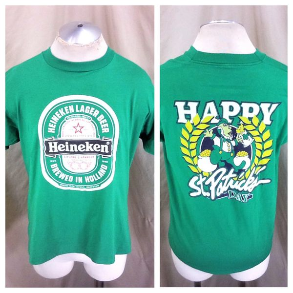 Vintage 90's Heineken Lager Beer (Large) Happy St. Patrick's Day Graphic T-Shirt