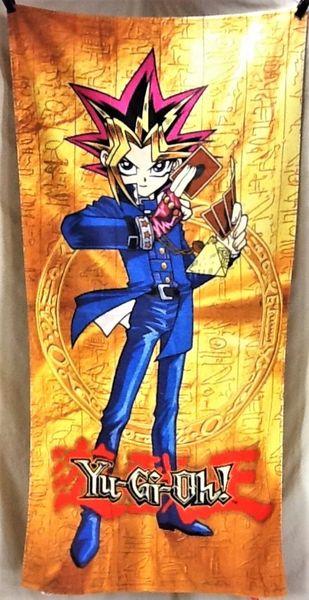 Vintage 1997 Yu-Gi-Oh! Japanese Anime Retro Graphc Beach Towel Wall Art Orange