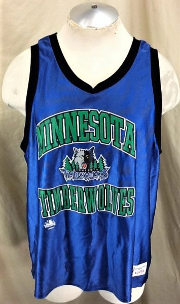 Vintage Logo 7 Minnesota Timberwolves Basketballl (XL) Retro Wolves NBA Graphic Jersey