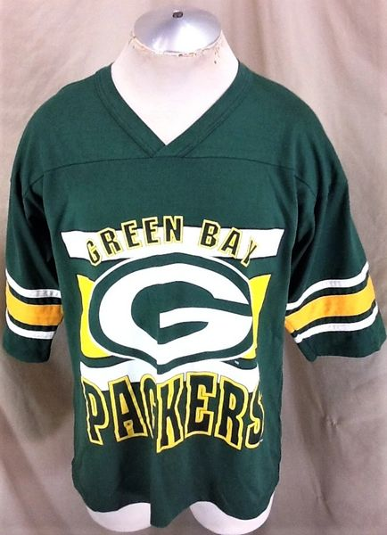 Vintage 90's Green Bay Packers Football Club (XL) Retro NFL Graphic Green T-Shirt