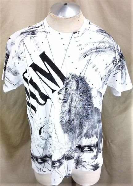 """Vintage 90's MGM """"Movie Empire"""" (XL) All Over Graphic Metro Goldwyn Mayer T-Shirt"""