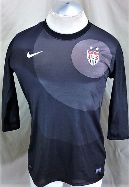 Nike Team USA World Cup Soccer (Med) Retro FIFA Dri-Fit Graphic 1/2 Sleeve Futbol Jersey